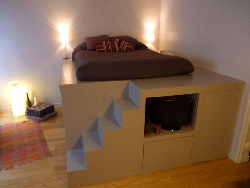 Deco da un dressing double emploi - Lit mezzanine avec dressing ...
